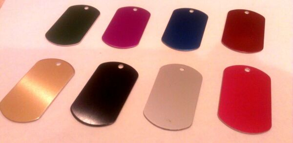 MILITARY STYLE DOG TAGS ID PET TAGS DOUBLE SIDED DIAMOND ENGRAVED 5cm or 4cm $3.99