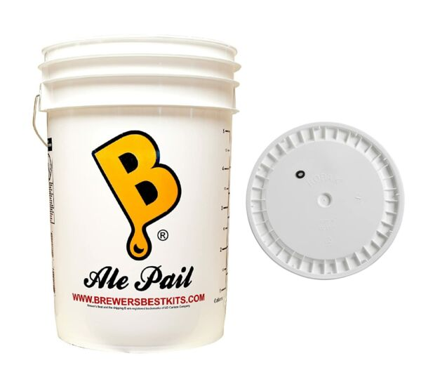 Brewing And Winemaking 6.5 Gallon Fermenting Bucket With Grommeted Lid Beer Wine