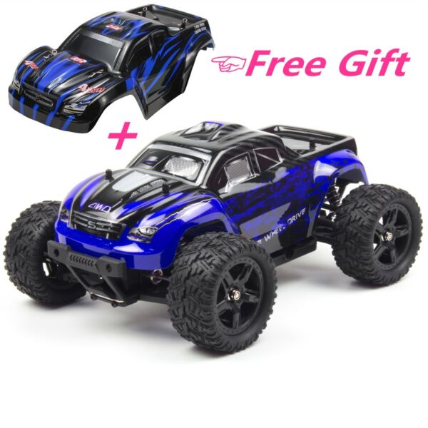 REMO 1/16 4WD RC Monster Truck Brushed Off-Road 2.4Ghz Remote Control Car RTR