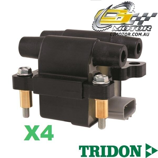 TRIDON IGNITION COIL x4 FOR Subaru Forester 0308-0610 4 2.5L EJ25