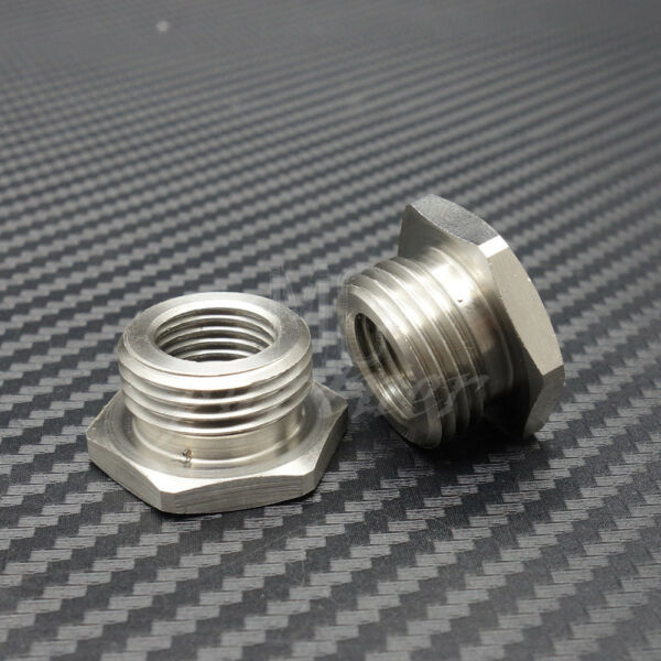 Stainless Adapters Reduce 02 O2 Sensor Ports Bungs 18mm to 12mm For Harley Plug $8.45