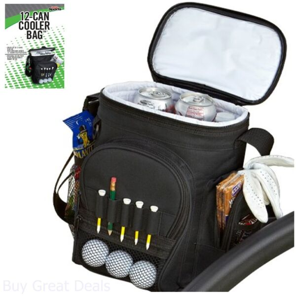 Golfer Cooler Bag Golf Cart Drinks Beverages And Snacks Golfing Supplies Storage