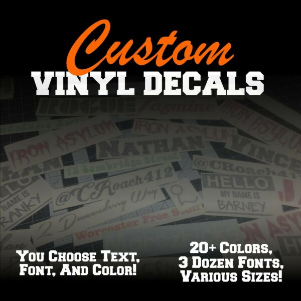 Custom Vinyl Lettering Decal Personalized Sticker Window Text Name Car Wall