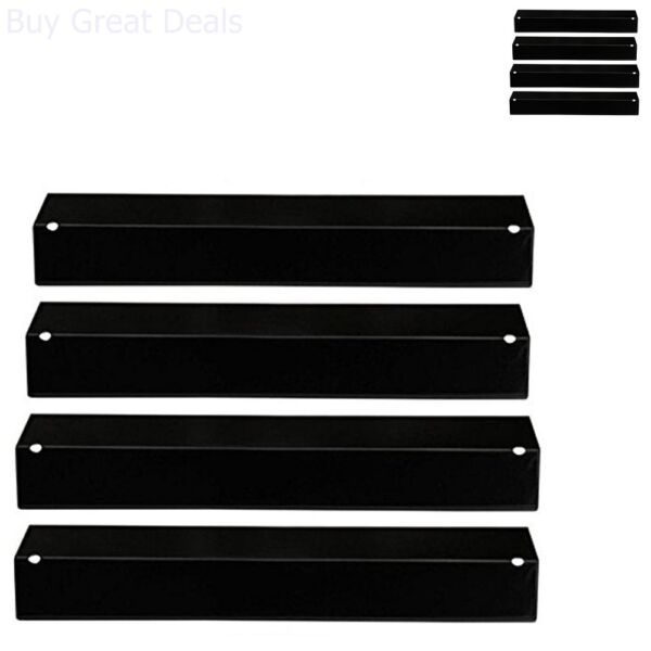 Grill Heat Bbq Plates Gas Replacement Porcelain Steel Parts 4 Pk Fits Many Brand