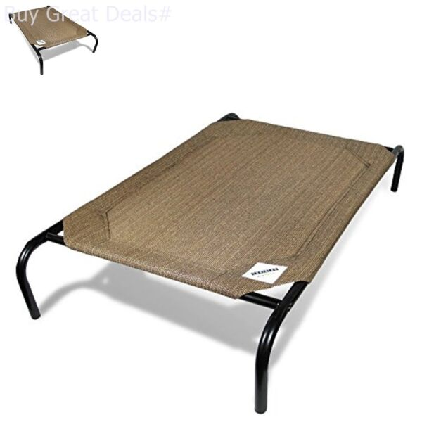 Large Dog Bed Elevated Outdoor Raised Pet Cot Indoor Durable Steel Frame $33.99