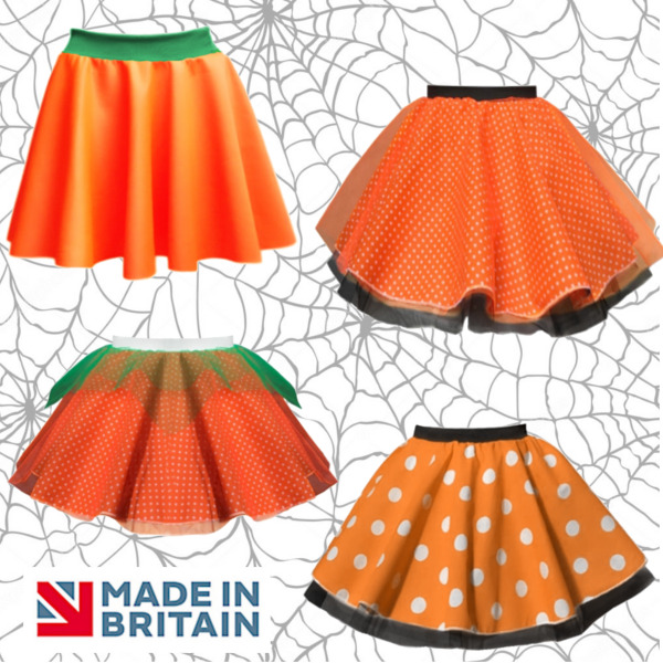 Ladies HALLOWEEN COSTUMES and PUMPKIN SKIRTS FANCY DRESS COSTUME Lots of Styles GBP 10.99