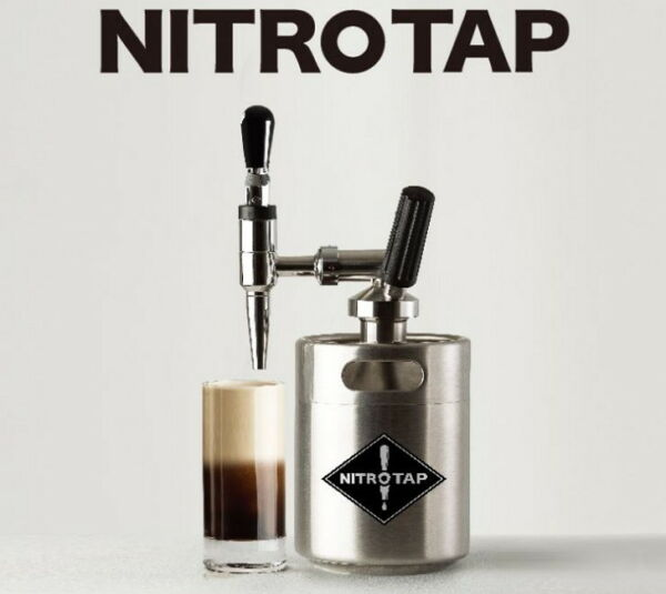 NITRO TAP Nitro Cold Brew Coffee Maker Dutch Simple Compact DIY Kit