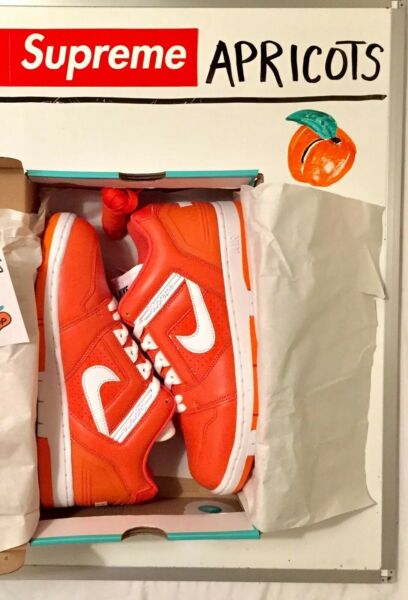 (SOLD OUT) SUPREME NIKE SB AIR FORCE 2 AF2 ORANGE SHOES SNEAKERS 8.5, BOGO KITH