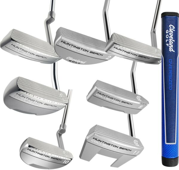 New Cleveland Golf Huntington Beach Putters O/S Grip - Pick Your Style