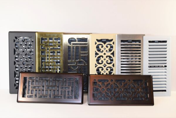 Decor-Grates-Floor-Register-Steel-Metal-Air-Vent-Scroll-Size-Inch 2