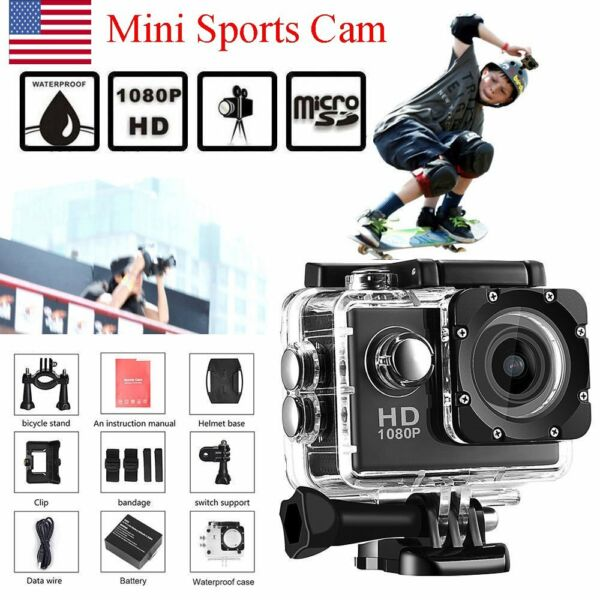 USA STOCK Waterproof Sports DV 1080P HD Video Action Camera 2.0
