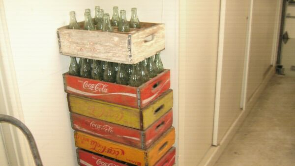 Coca Cola Bottles and Crates Old Rare 24 Bottles and Crate