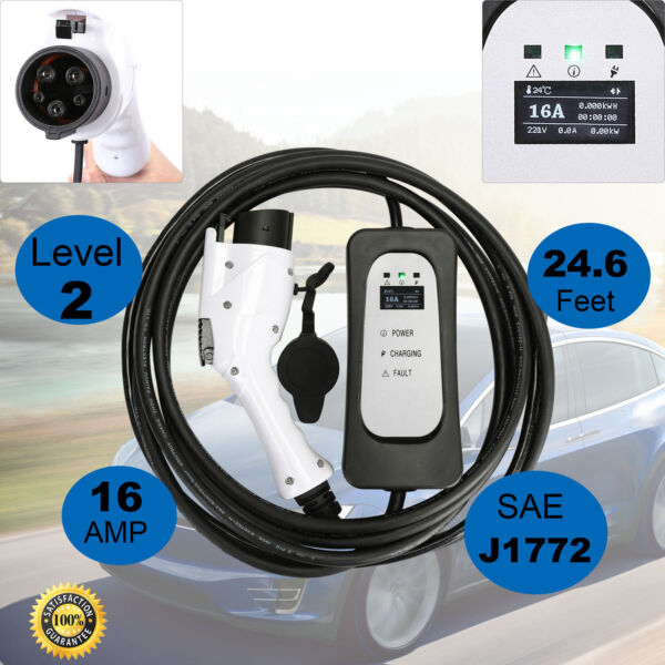 3x FasterEVSE Electric Vehicle Charger EV Level 2 220Volt16A for Leaf w/Cord New
