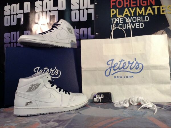 NEW Air Jordan 1 Jeter RE2PECT DAY NY Pop UP Size 11 Exclusive Yankees Derek