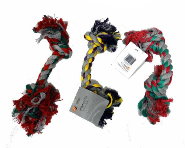 Set of 40 Pieces - 12″ Double Knot Dog Cotton Linen Rope Chewing Toys
