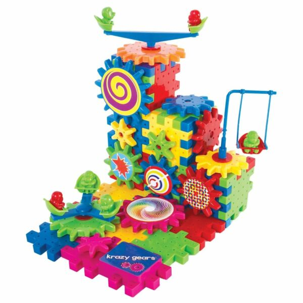 Krazy Gears Gear Building Toy Set - Interlocking Learning Blocks