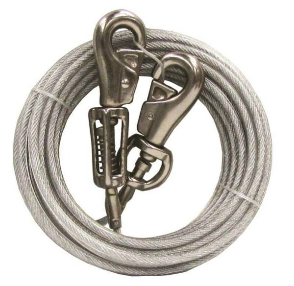 Tie Out Dog Xlarge 30ft Pdq PartNo Q5730SPG99 by BOSS PET PRODUCTS Single Uni $23.20