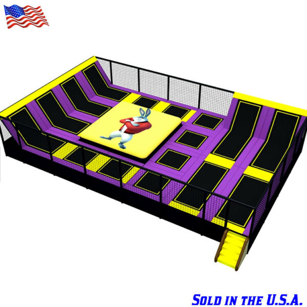 15000 sqft Commercial Turnkey Trampoline Park Ninja Climb Inflatable We Finance