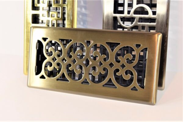 Decor-Grates-Floor-Register-Air-Vent-Scroll - Antique 4x10 4x12 4x14 2x12.