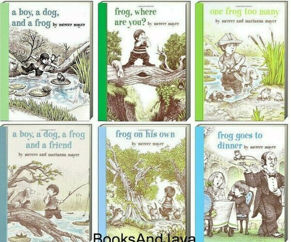 A Boy A Dog and A Frog Set by Mercer Mayer Frog Where are You? 6 Hardcovers $38.99