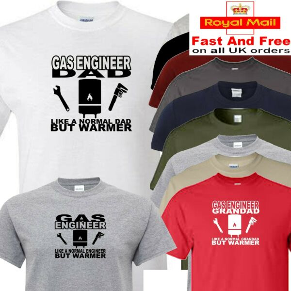 gas t shirt dad grandad or engineer plumber boiler GBP 12.00