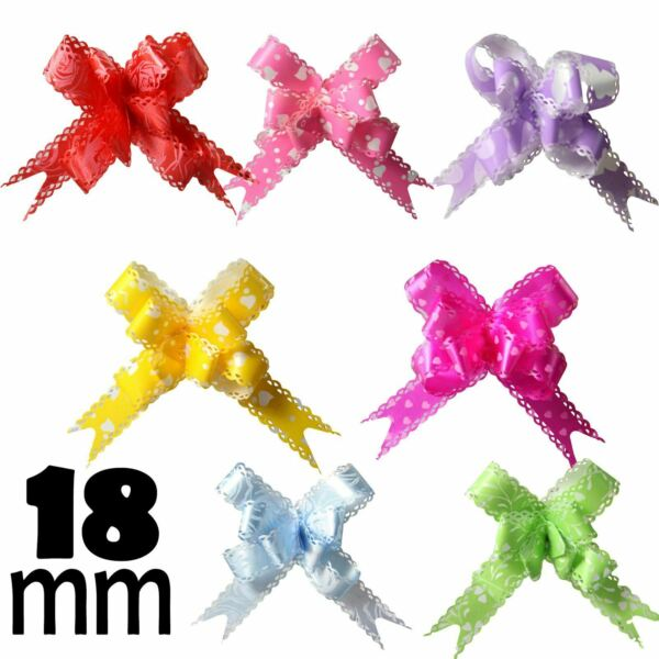 10x 18mm Frilled Edge Butterfly Pull Bows! Pullbow Gift Wrap Buy 2 Get 1 FREE!