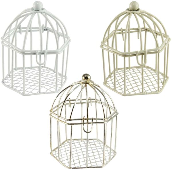 Straight Wedding Favour Bird Cages.  Wedding Sweets Pail