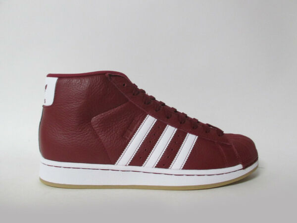 Adidas Pro Model College Burgundy Red White Gum Sz 9 BY4172