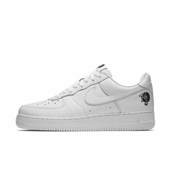 {AO1070-101} MEN'S NIKE AIR FORCE 1 '07 SHOE ROCAFELLA WHITE *NEW!*