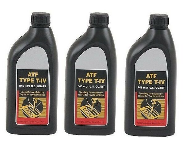 Set of 3 Genuine For Toyota Yaris Pickup Automatic Transmission Fluid 00279000T4