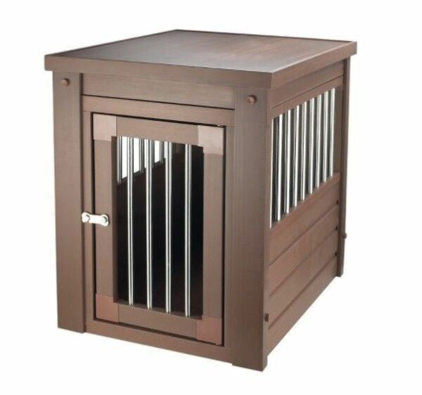 X Large Pet Crate Cage End Table Dog House Russet Home Indoor Gate Living Room