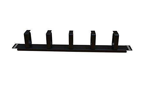 1U Horizontal Rack Mount Metal Cable Management With 5 D Rings $14.99