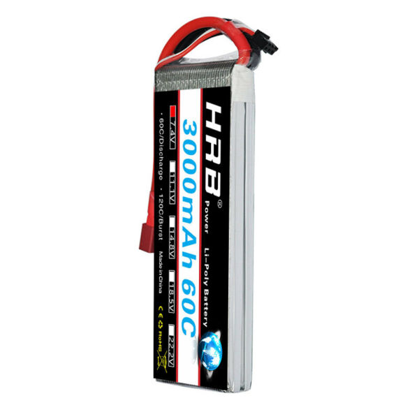 HRB 2S 3000mAh 7.4V 60C 120C RC LiPo Battery For Drone Helicopter Airplane Hobby