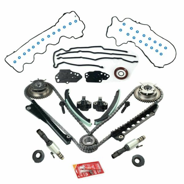 Timing Chain Kit+Cam Phasers+VVT Valves For 5.4L Triton 3V Ford F150 Lincoln
