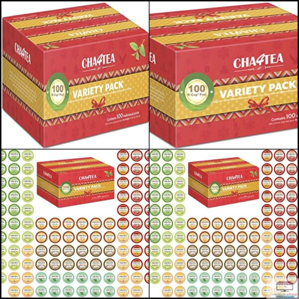 Cha4TEA K-Cup Tea Variety Sampler Pack 100-Count Keurig K Cups Multiple Flavor
