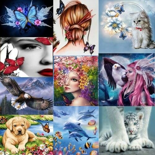 5D Diamond Painting Embroidery Cross Crafts Stitch Kit Home Art Decor DIY Gifts
