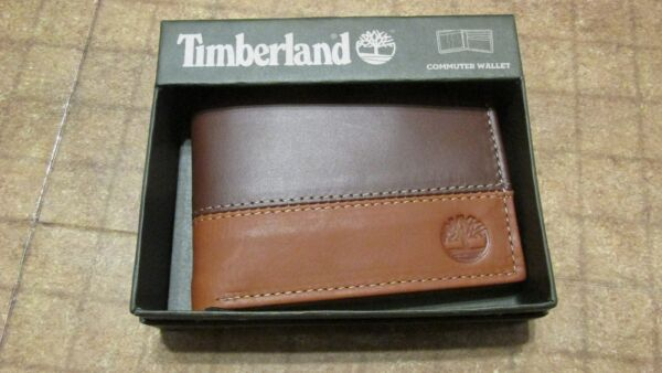 Timberland Wallet Brown Tan bi fold commuter free shipping new $19.99