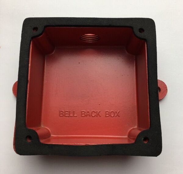 RED OUTDOOR BELL BACK BOX DEVICE 4 3 8quot; x 4 3 8quot; NEW $12.95
