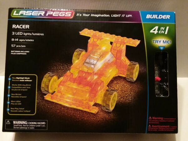 Laser Pegs Racer 4-in-1 Building Set New In Box