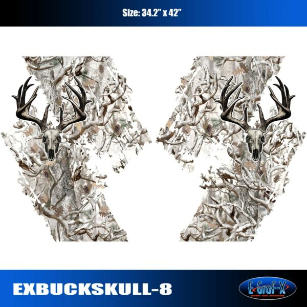 Buck Skull Camo Snow Chevy Ford Dodge Toyota Nissan Truck High Quality EgraF X