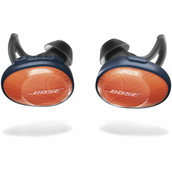 Bose SoundSport Free Bluetooth Wireless In-Ear Headphones Earbuds - Orange