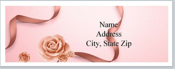 Personalized Address Labels Pink Roses Ribbons Buy 3 get 1 free (P 517)