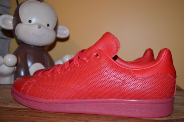 NEW ADIDAS ORIGINALS STAN SMITH AdiColor Classic Shoes 8 - 12 Triple Red S80248