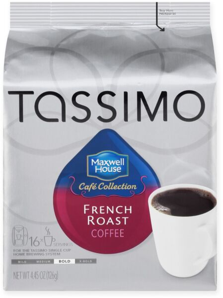 Maxwell House 16-Count French Roast Dark Coffee T DISCS for Tassimo Beverage