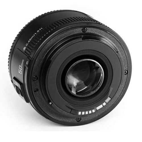 Yongnuo YN 50mm F 1.8 EF AF MF Prime Fixed Lens for Canon EOS Rebel Camera USA