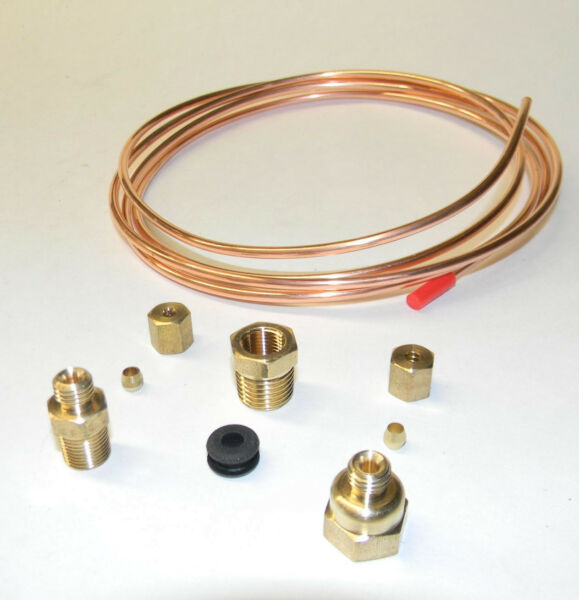 MECHANICAL OIL PRESSURE GAUGE INSTALL KIT with FITTINGS & 72