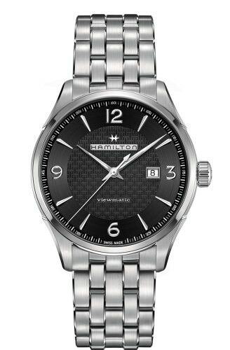 NEW JAZZMASTER VIEWMATIC AUTO 44M BLACK DIAL STAINLESS STEEL BRACELET H32755131