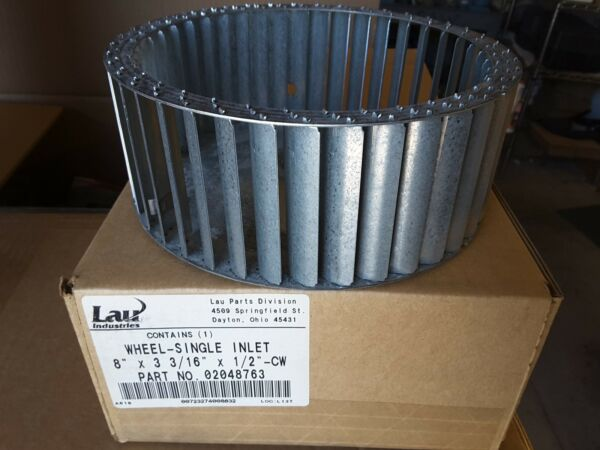 LAU Conaire 02048763 8quot; SINGLE BLOWER WHEEL INLET 3 3 16quot;×1 2quot; CW New NIB $39
