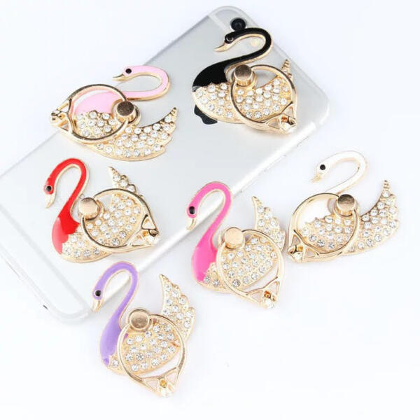 Universal 360 Rotating  Finger Ring Stand Holder For Cell Phone or Tablet -SWAN