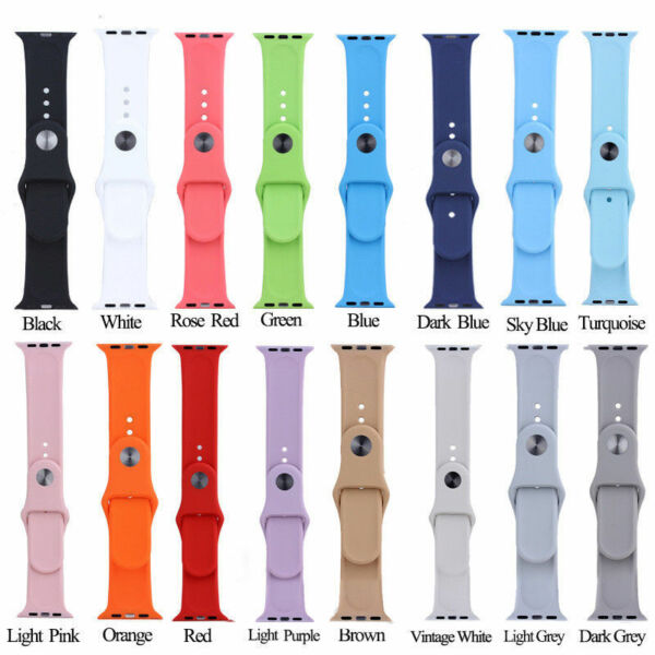 Replacement Bracelet Strap Band for Apple Watch 38mm/42mm Sport Series 1/2/3